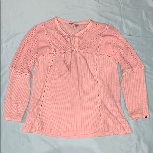 NWOT pink lucky brand top